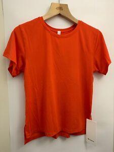 Lululemon Jericho Crew SS NWT Size 4 RDOR Red Orange Loose Fit Lightweight Tee