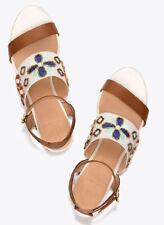 TORY BURCH ~ White Estella Wedge Sandal Size 8.5