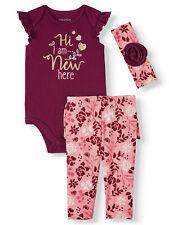 Miniville Baby Girls Bodysuit Leggings and Headband 3-Piece Set 18 Months