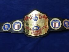 NWA UNITED STATES HEAVYWEIGHT CHAMPIONSHIP BELT IN 4MM THICK BRASS PLATES!