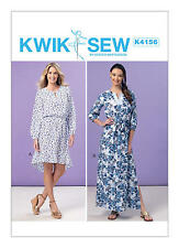 Kwik Sew K4156 PATTERN -Misses Dresses & Sash - Brand New Sizes XS, S, M, L, XL