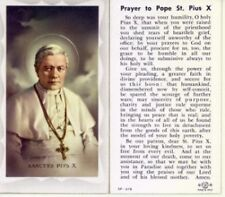 Pope St Pius X Prayer Card (Heave Stock Paper)