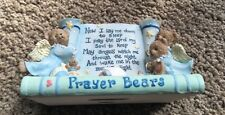 """1997 Prayer Bears Angel Sculpture """"Now I Lay Me"""" by Shelly Rasche"""