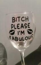 "X6 ""Bitch Please"" Sticker Wine Glass Mug Vinyl Decal Funny DIY Gift STICKER ONLY"