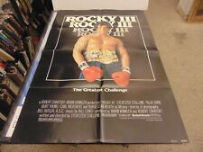 ROCKY III 1982 SYLVESTER STALLONE MR T ORIG 1-SHEET POSTER N7058