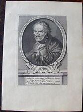 HERACLITE, Philosophe.......A Paris , Desrochers. Portrait. Gravure originale 18