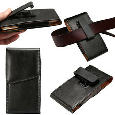 PU Leather Rotating Holster Hanging waist Belt Clip Case Cover For Many Phones