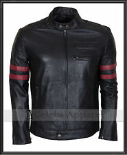 Tyler Durden Mayhem Biker Genuine Leather Fight Club Brad Pitt Jacket