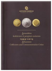 Bank of Lithuania official booklet 1993-2015 Lithuanian coins
