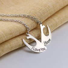 Fashion Star Wars Rebel Insignia I Love You I Know Couple Necklace Pendant  RT