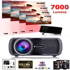 7000 Lumen 1080P HD LED Projector Home Theater Cinema Multimedia HDMI USB VGA UK