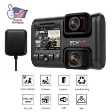 Dual Lens 2 Camera Car DVR 2160P For Sony Sensor WIFI GPS Logger Dash Video USA