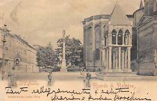 7781) RICORDO DI BOLOGNA. PIAZZA GALILEO GIA' S. DOMENICO. ANIMATA. VG NEL 1905.