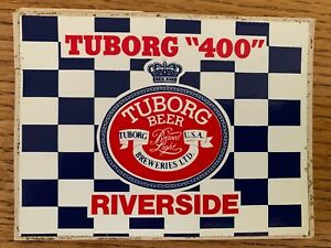 VINTAGE NASCAR RIVERSIDE RACEWAY TUBORG 400, JUNE 8th 1975 DECALS.