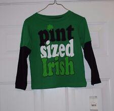 2T PINT SIZED IRISH PRIDE TODDLER T SHIRT KIDS CLOTHING  SHAMROCK 2 YEAR OLD