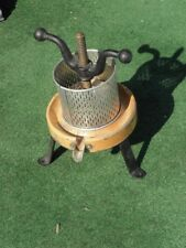vintage Press Wine Fruit Grape Hand Cranked Juice Press Juicer wood Iron country