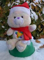 "Christmas Santa TRUE HEART Care Bear 12"" Carlton Cards 2003 Toy 20th Anniversary"