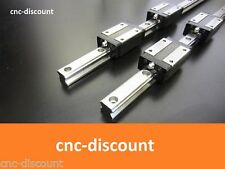CNC Set 25 x 300mm 2x Linearführung + 4x Linearwagen orange Linear Guide Welle