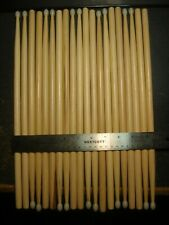 Lot of 10 Pairs 7AN Maple Wood Drum Sticks Nylon Tips