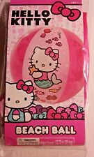Hello Kitty Inflatable Beach Ball Kids Pool Toy Sanrio Pink Mermaid New Sealed