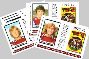 ASTON VILLA - 1975/76  SERIES 1 - COLLECTORS POSTCARD SET