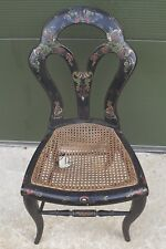 Small Antique Victorian Chinoiserie Occasional Chair - Needs Restoration