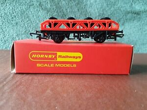 Hornby R.131 Flat wagon with wheel load- Boxed in mint condition.