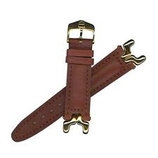 Tag Heuer 19mm (Men's) Brown Leather Str S/EL Sports Edition Watch band BC0459