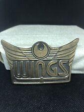 Wings Gold Tone Vintage Belt Buckle