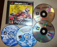 5 PS1 Playstation 1 PSONE juegos Ducati Mundo + Driver V-RALLY 2 Jet Rider Mania 2