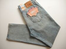 LEVI'S JEANS 501 CT SHORDICH BLEACH DISTRESS BUTTON FLY RIPPED KNEES W34 L32