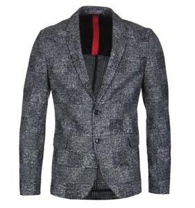 BNWT mens HUGO BOSS ARWIDO SLIM FIT CHECK BLAZER size 50 uk 40 or L RRP £299
