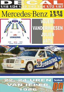 DECAL MERCEDES BENZ 190 E 2.3 16V V.VANDERMAESEN YPRES 24 HOURS R. 1986 DnF (06)