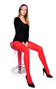 Red 60 Denier S to 4XL Ladies Tights Opaque Matt Pantyhose Hosiery
