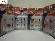 Greenlight Multipack Shell - Gulf - TEXACO - STP Gas Station Shoptool Set 1:64