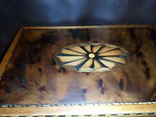 More details for antique georgian (george lll) yew wood inlaid tea caddy, box