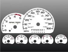 1995 Chevrolet Truck Dash Cluster White Face Gauges 95-98