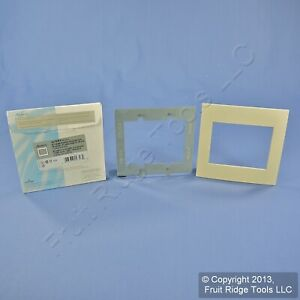 New Leviton 2-Gang Driftwood Acenti Screwless Snap-On Wallplate Cover ACWP2-DFT