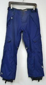 SESSIONS ROYAL BLUE SKI/SNOWBOARD PANTS - MENS SIZE LARGE W/RECCO ~ EUC