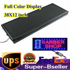 New Full Color 38x12 Inch Display P5 Led Sign Programmable Scrolling Message Rgb