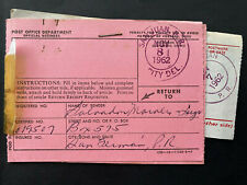 Puerto Rico 1962, USPS POD's receipts, Lot of 4, Salvador Morales San German