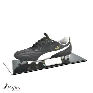 Perspex Football Single Boot Display Case - Black Base