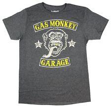 Gas Monkey size 2XL men's heather dark gray GAS MONKEY GARAGE print t-shirt