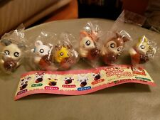 Vintage Epoch Hamtaro Hamster & friends Acorn Charms Gashapon Complete set of 6