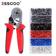 1500 teilig Set /Crimpzange Aderendhülsenzange 0,25-10mm² Kabelschuhe Presszange