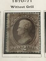 Rare US Stamp Scott 146 Rare Stamp 2c Red Brown 1870