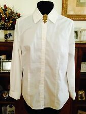 Ladies Civil War Reenactor Fitted Waist Shirt Blouse by Ann Taylor Size 10
