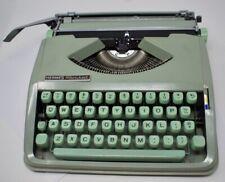 Vintage Mint Green Hermes Rocket Portable Typewriter w/ Case W. Germany