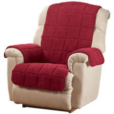 Waterproof Quilted Sherpa Recliner Cover by OakRidgeTM, Burgundy