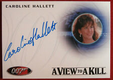 JAMES BOND - A VIEW TO A KILL - CAROLINE HALLETT - Party Guest - Autograph Card